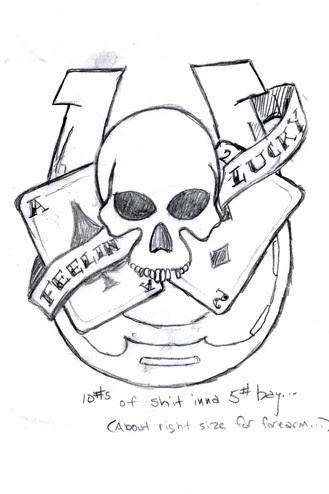 evolution: next tattoo (sketch #5). Here's where I am now.