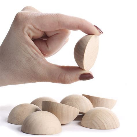Unfinished Wood Split Balls   Wooden Balls and Ball Knobs