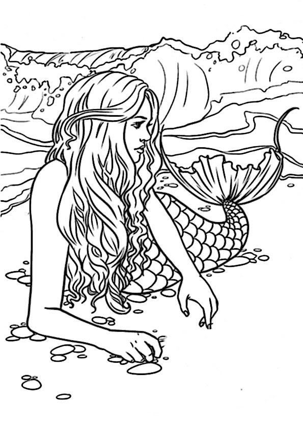 Ausmalbilder Meerjungfrau Topmodel Coloring And Drawing
