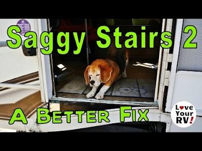 Love Your RV: Saggy RV Steps 2, Renogy RV Solar System Upgrade, Bogart SC2030 CC and Trimetric Battery Monitor, Lippert Elephant Foot Jack Pads