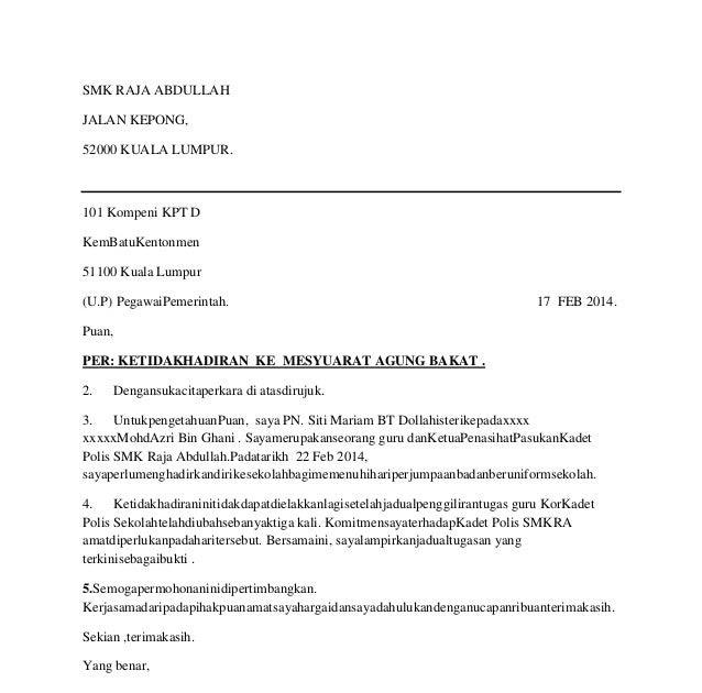 Surat Rasmi Untuk Perkeso - Surat LL
