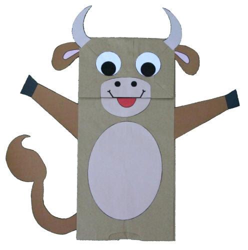 Manualidad Con Bolsa De Papel La Vaca