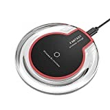 #10: Wireless Charger, Qi-Certified Wireless Charging Pad, PowerPort Wireless 5 Compatible with iPhone XS Max/XR/XS/8/8 Plus, iPhone X, 5W Fast-Charging Samsung Galaxy S9/S9+/S8/S8+/S7/S7 Edge More (Black)