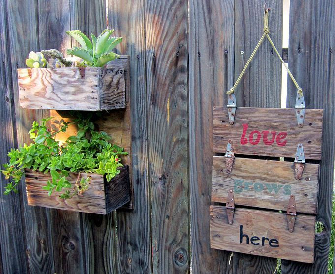 rustic Industrial Garden Creswell Wooden @Heather  Rustic Tool Boxes  ideas signs = Sign
