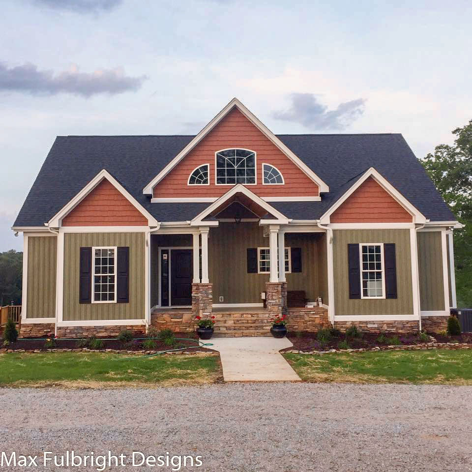 4  Bedroom  House  Plan  Craftsman Home  Design by Max Fulbright