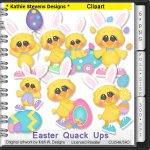 Easter Quack Ups Clipart - CU