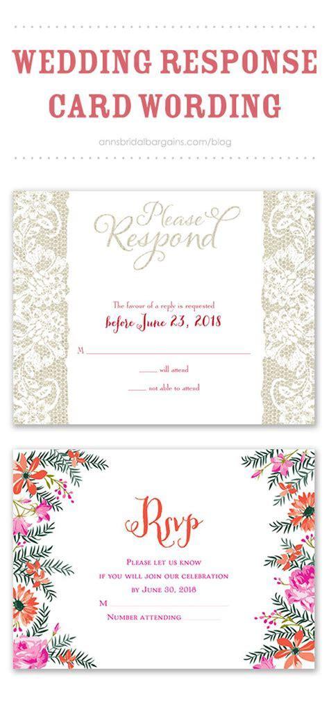 Wedding Response Card Wording