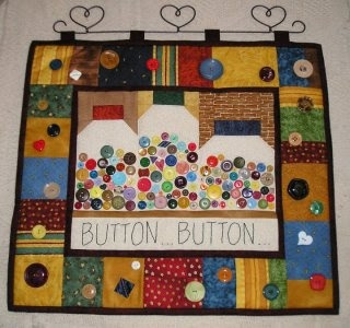 Have a lot of wonderful buttons and looking for a way to showcase them?   A Button Quilt!