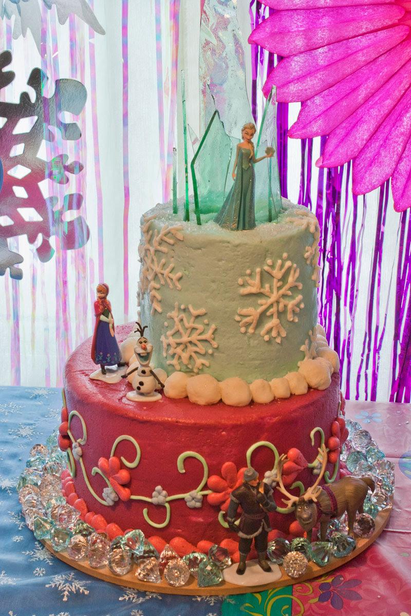 Frozen Themed Fondant Birthday Cake Recipe Frozen Cake Ideas