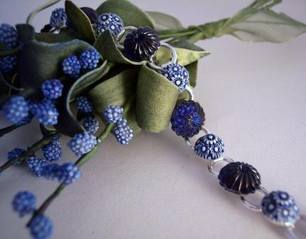Vintage Sapphire Glass Bracelet