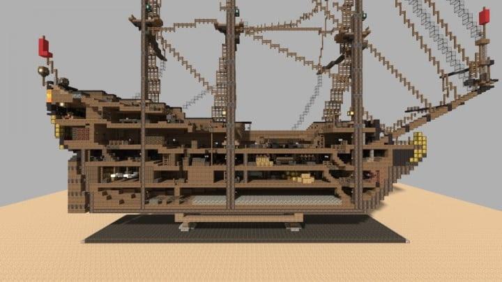Wapen von Hamburg   Ship - Minecraft Building Inc