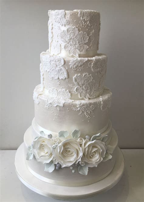 12 white wedding cakes