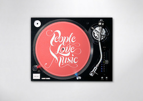 People Love Music - Typography