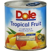 Dole Tropical Fruit in Light Syrup & Passion Fruit Juice - 15.25 oz can