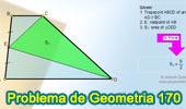 Problema de Geometría 170 (ESL): Trapecio, Área, Punto Medio, Triangulo.