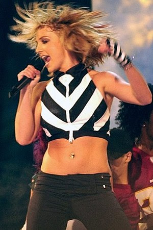 Pop singer Britney Spears gained her second U....
