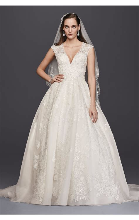 Oleg Cassini Petite Flater Drop Waist Ball Gown Bridal