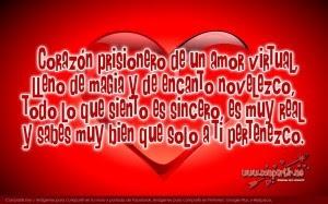 Fondo De Corazon Con Versos De Amor Virtual