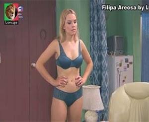 Filipa Areosa super sensual em lingerie na novela Nazare