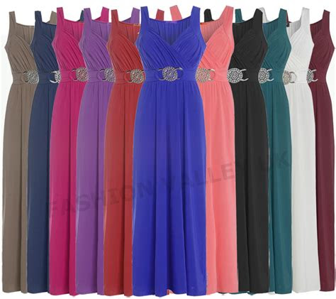 womens  size buckle bridesmaid prom evening long