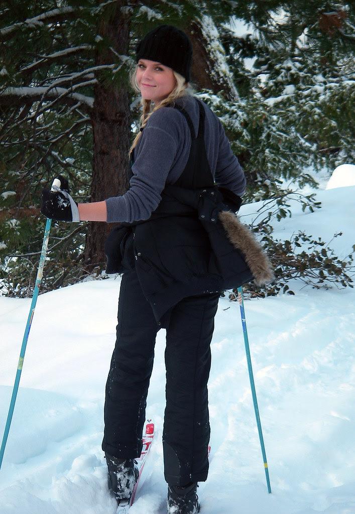 Kenzie cross country skiing