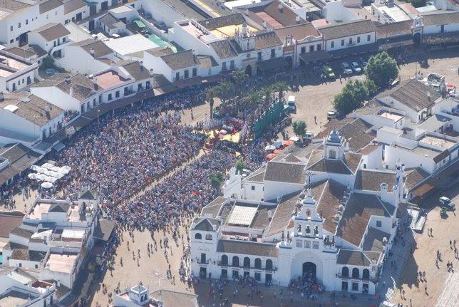 Vista aérea de la Misa de Pontifical de Pentecostés