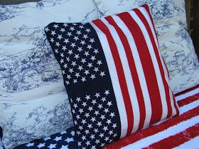 Mountain Breaths: ~Knockoffs~ Pottery Barn American Flag Pillow and Target Napkin Rings