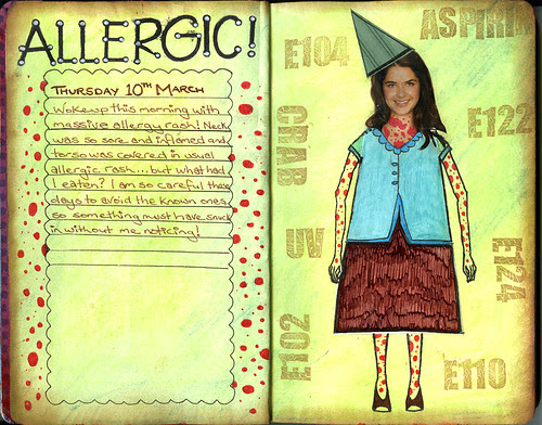 Art Journal Page - Mar10 - Allergic!