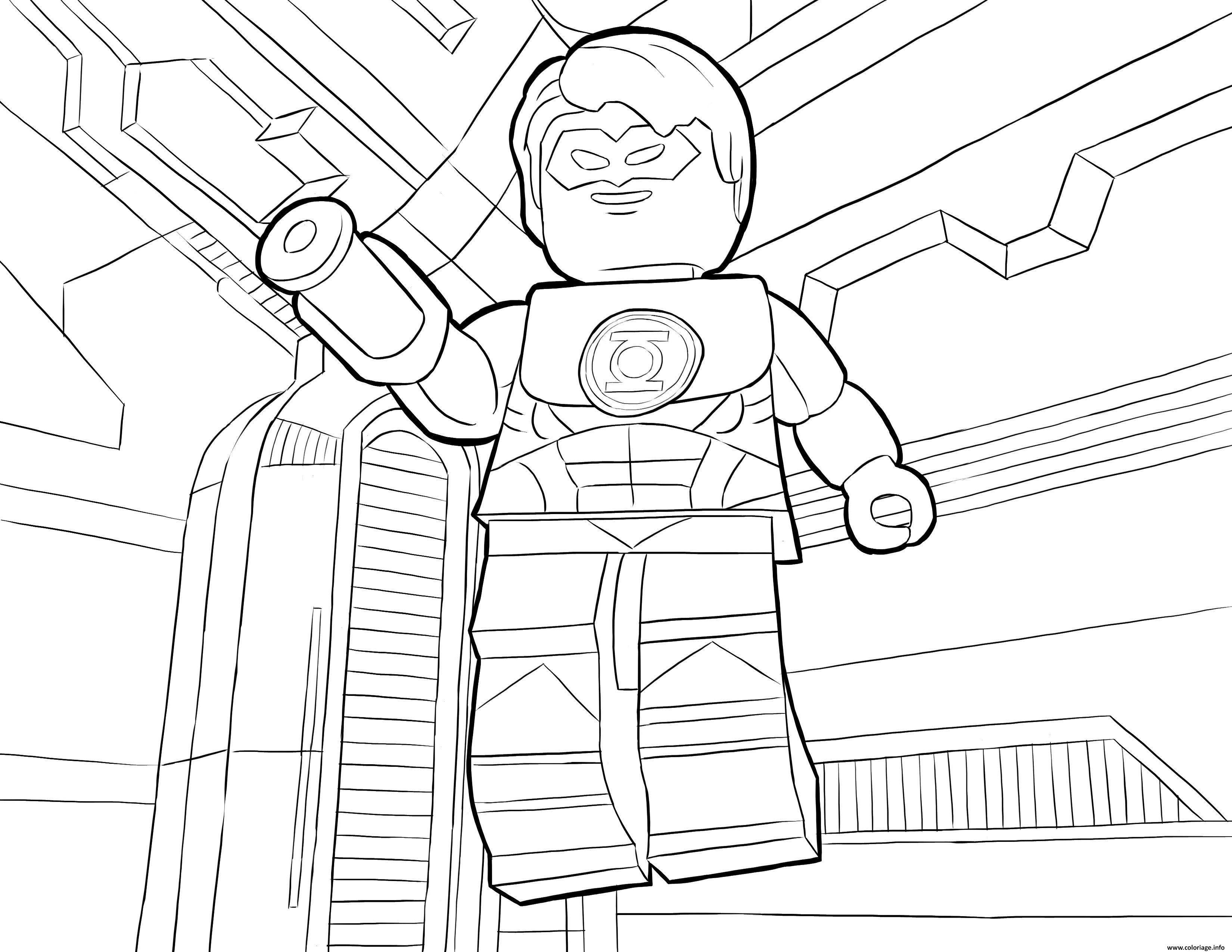Coloriage Lego Dc Universe Super Heroes Jecoloriecom