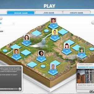 SimCity game screen