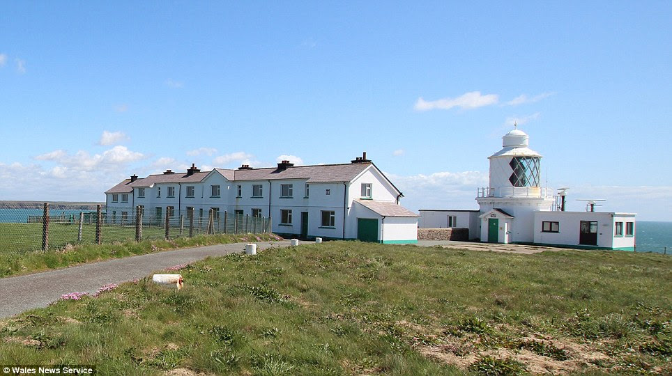 Stunning: The five properties, available for less than £1m together, have some of the best coastal views in Britain but all require modernisation as they have been empty for a decade