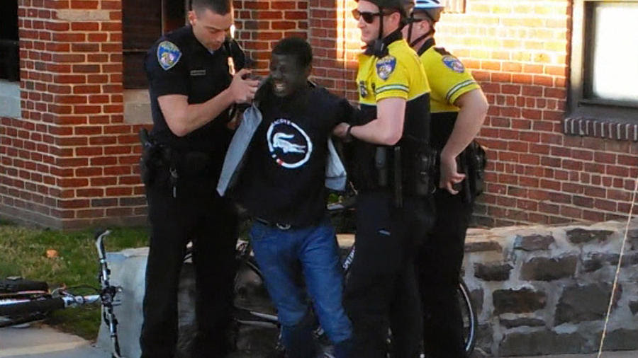 Freddie Gray taken into custody