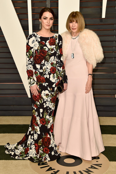 Bee Shaffer in Dolce & Gabbana and Anna Wintour