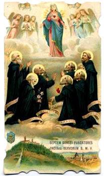 Resultado de imagen para siete santos fundadores de la orden de los siervos