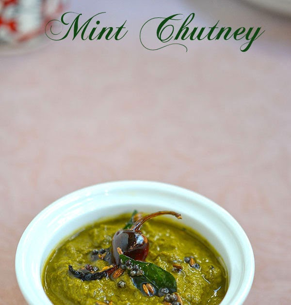 how to make pudina chutney without coconut