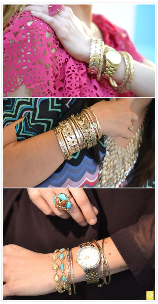 These bracelets make me want to work through my inability to wear anything on my wrist #KendraScott