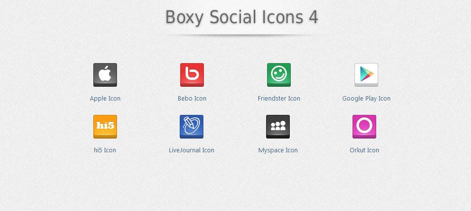 Boxy Social Icons 4