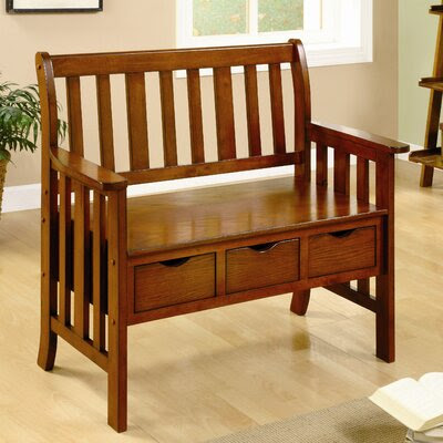 Linon Cynthia Solid Wood Storage Entryway Bench | Wayfair