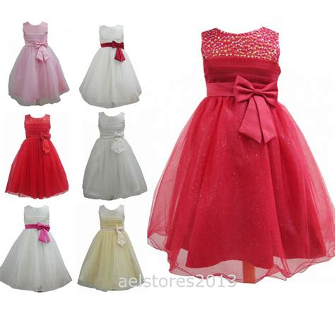 flower girls party bridesmaid pageant wedding dress age