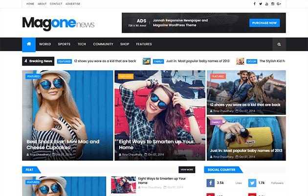 MagOne Responsive Blogger Template