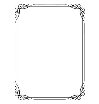 Simple ornamental decorative frame vector 691861   by