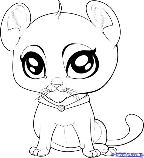 coloring pages cute coloring pictures  animals cute