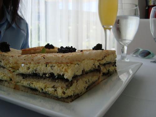 Caviar-Egg Salad Sandwich