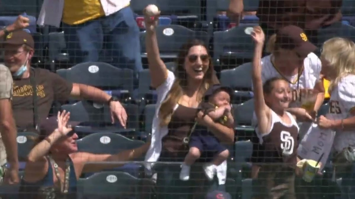 Oh, Baby, What a Catch! Padres Supermom Makes Barehanded Catch