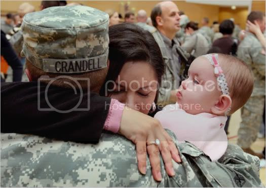Sgt. Joseph Crandell Meets His Daughter