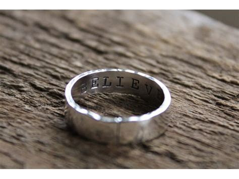 mens rustic personalized ring masculine enzo ring