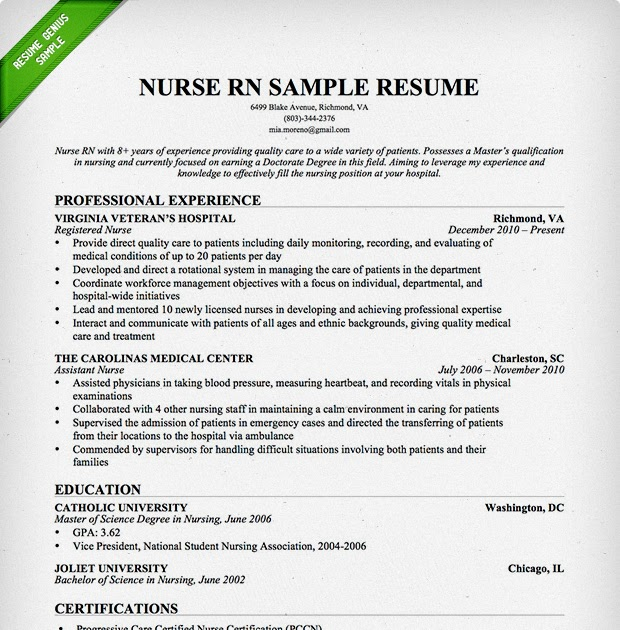 25 Fresh Sample Nursing Resume Best Resume Examples