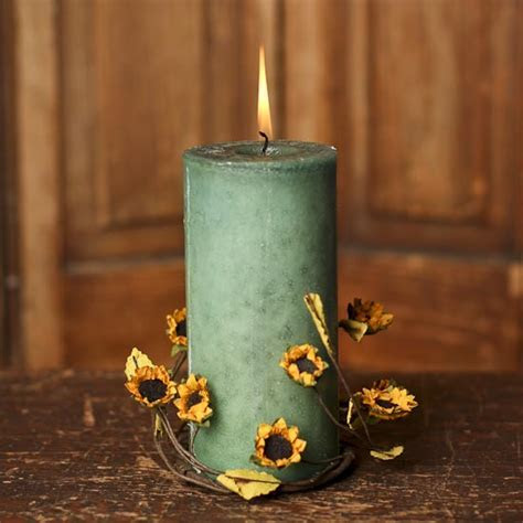 Artificial Sunflower Candle Ring   Candles and Accessories