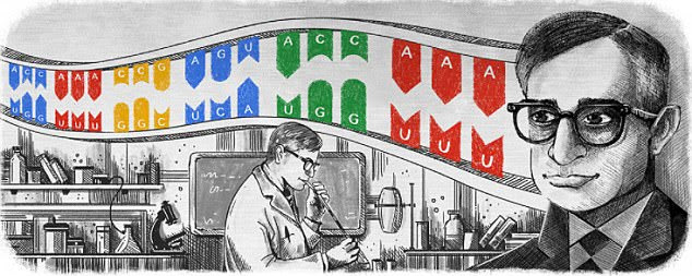 The latest Google Doodle  celebrates Indian-American biochemist Har Gobind Khorana