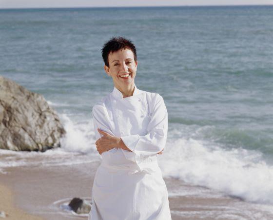 La cocinera Carme Ruscalleda, en Sant Pol de Mar, donde se ubica su restaurante Sant Pau.